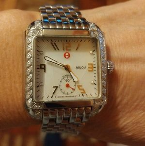 NWOT MICHELLE MILOU DIAMOND WATCH